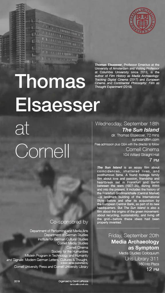 Thomas Elsaesser at Cornell