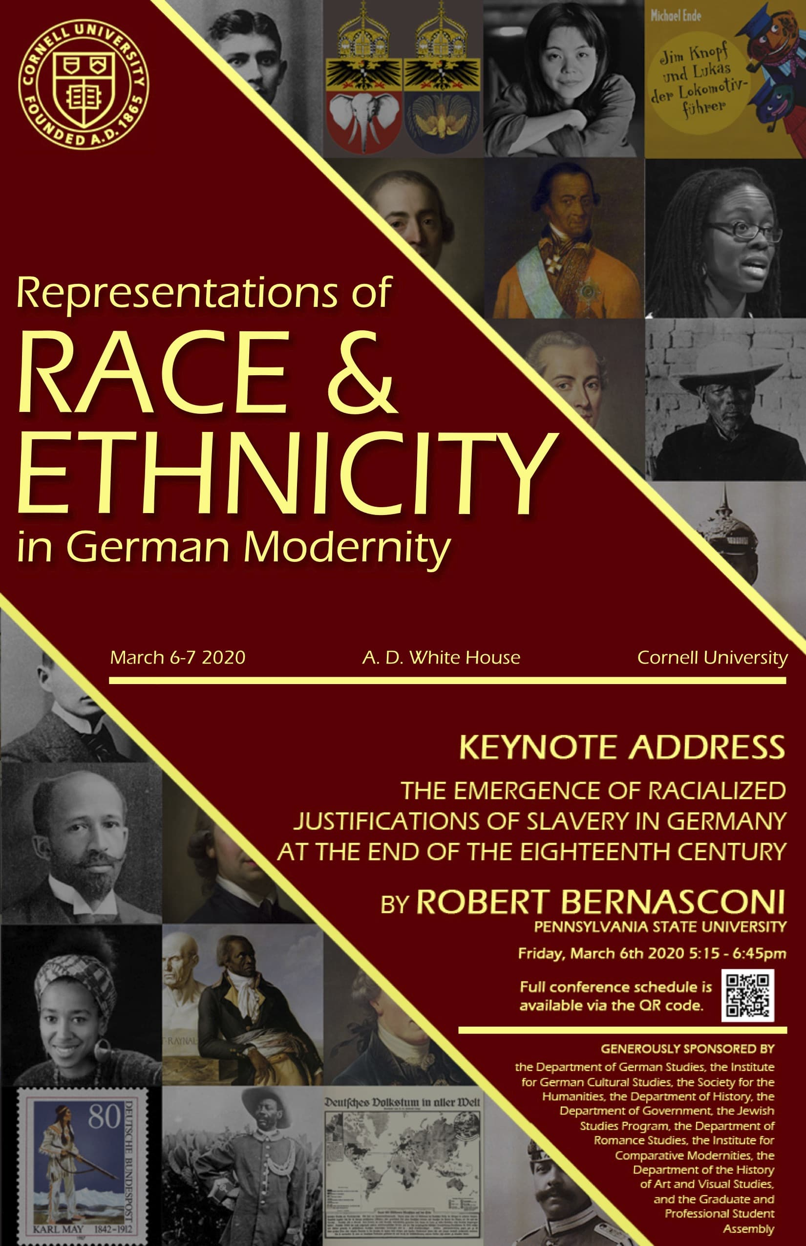 Conference: Representations of Race and Ethnicity in German Modernity on Friday, March 6th and Saturday, March 7th